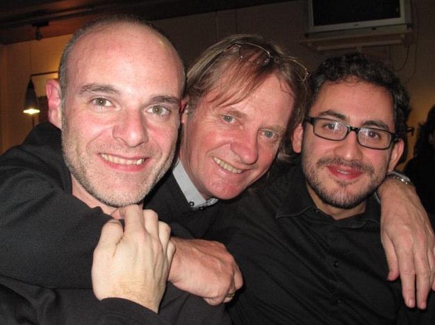 Con David Russell y Pedro Mateo Gonzalez