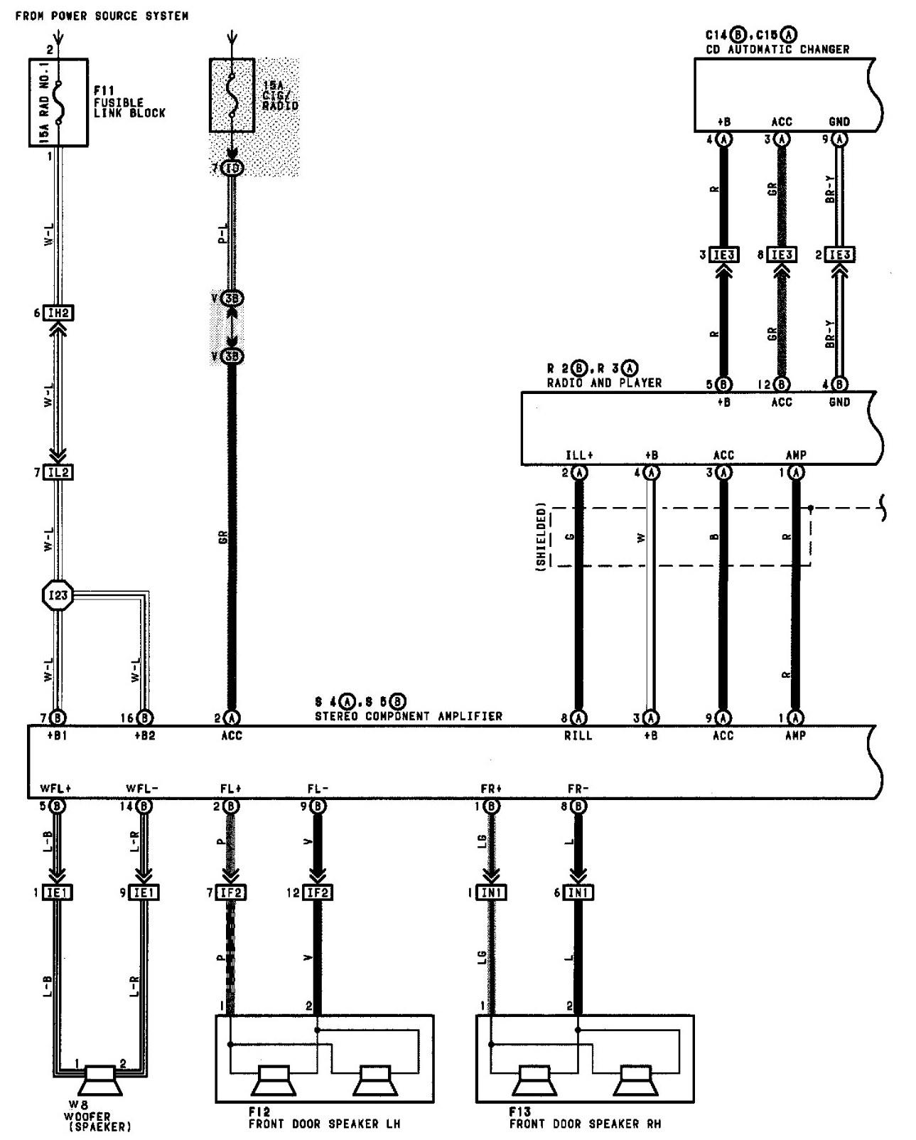 Toyota Camry Radio Wiring Diagram