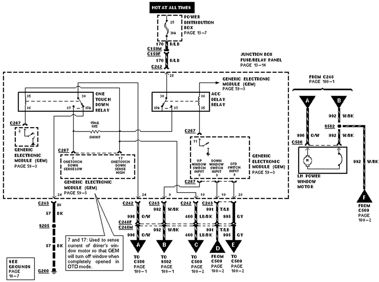 Ford Taurus Car Alarm Wiring Diagram