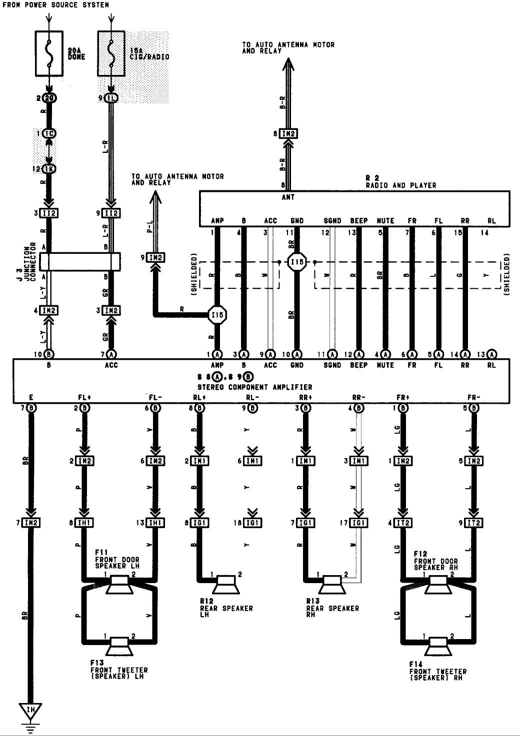 Toyota Avalon Stereo Wiring Diagram