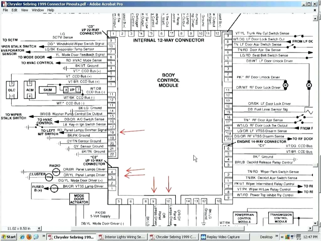 Chrysler Sebring Radio Wiring Diagram