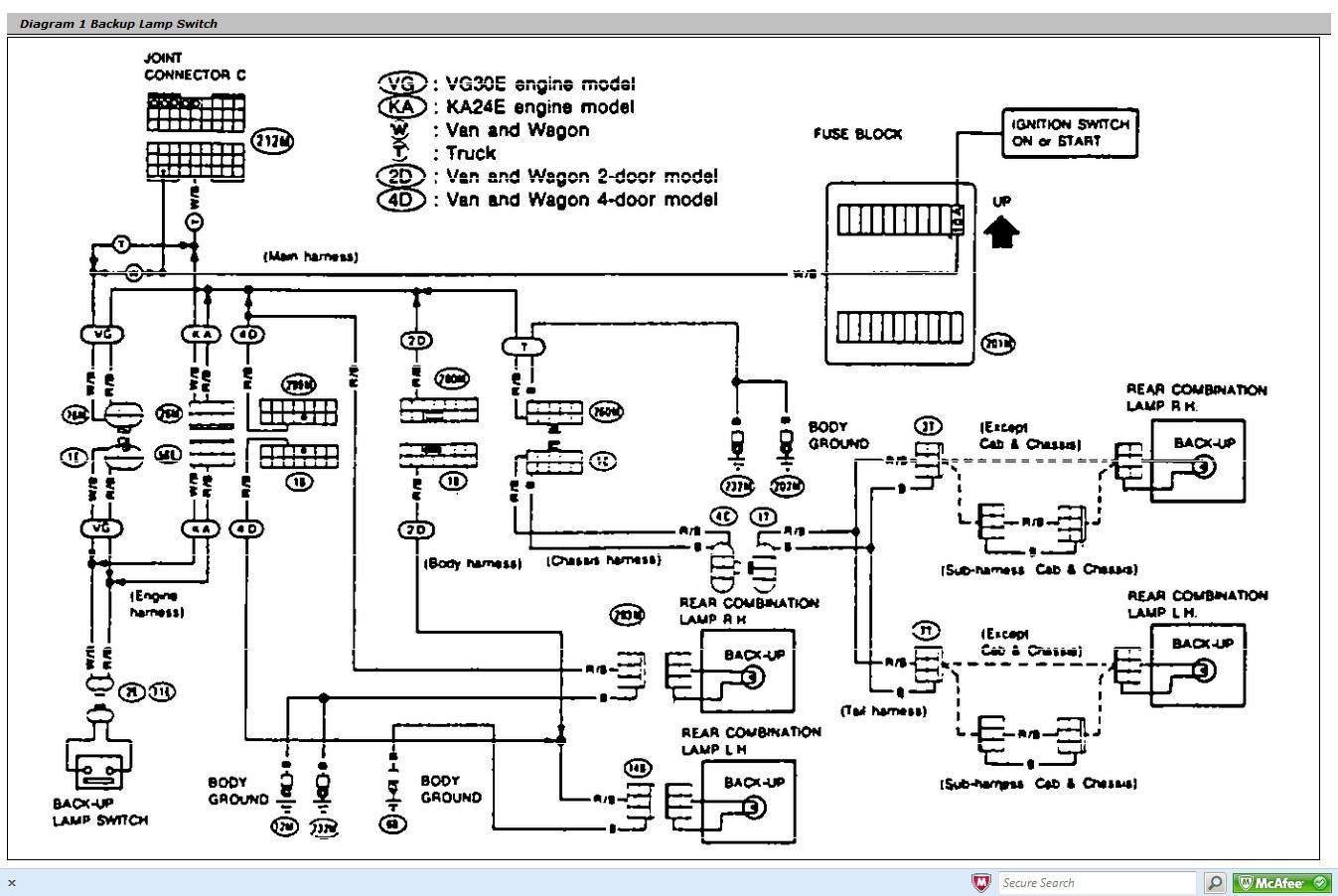 Nissan Wiring Harness Diagram