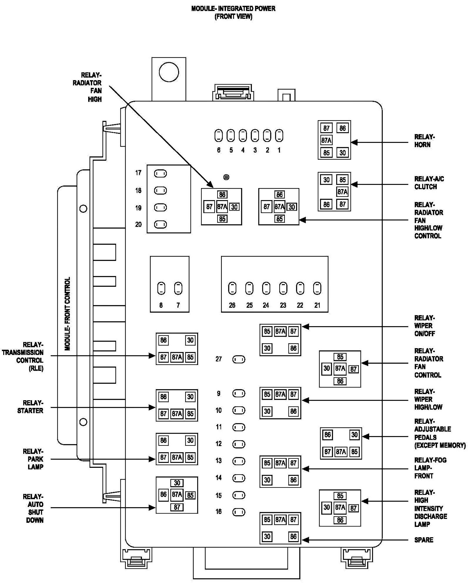 Chrysler Sebring Wiring Diagram