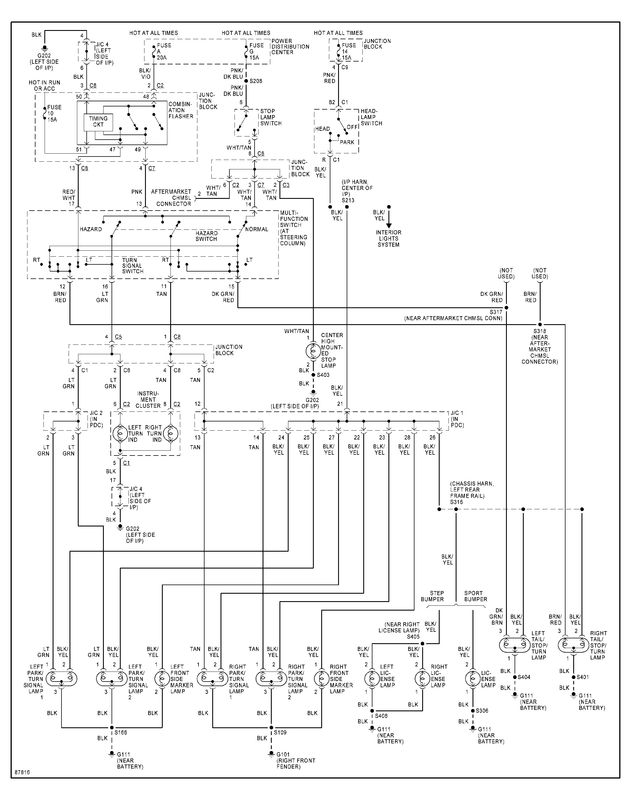 Dodge Ram Brake Light Wiring Diagram