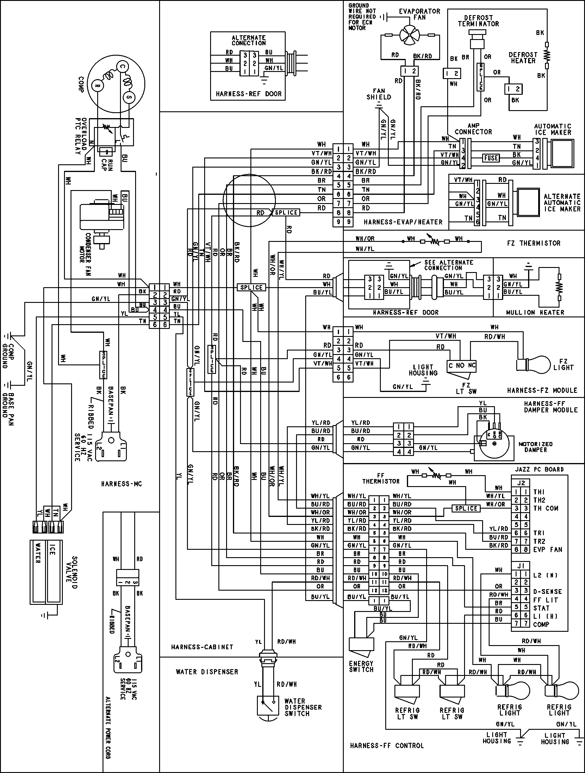 Simple Refrigerator Wiring Diagram