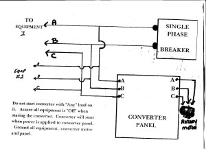 American Rotary Phase Converter Wiring Diagram | Free