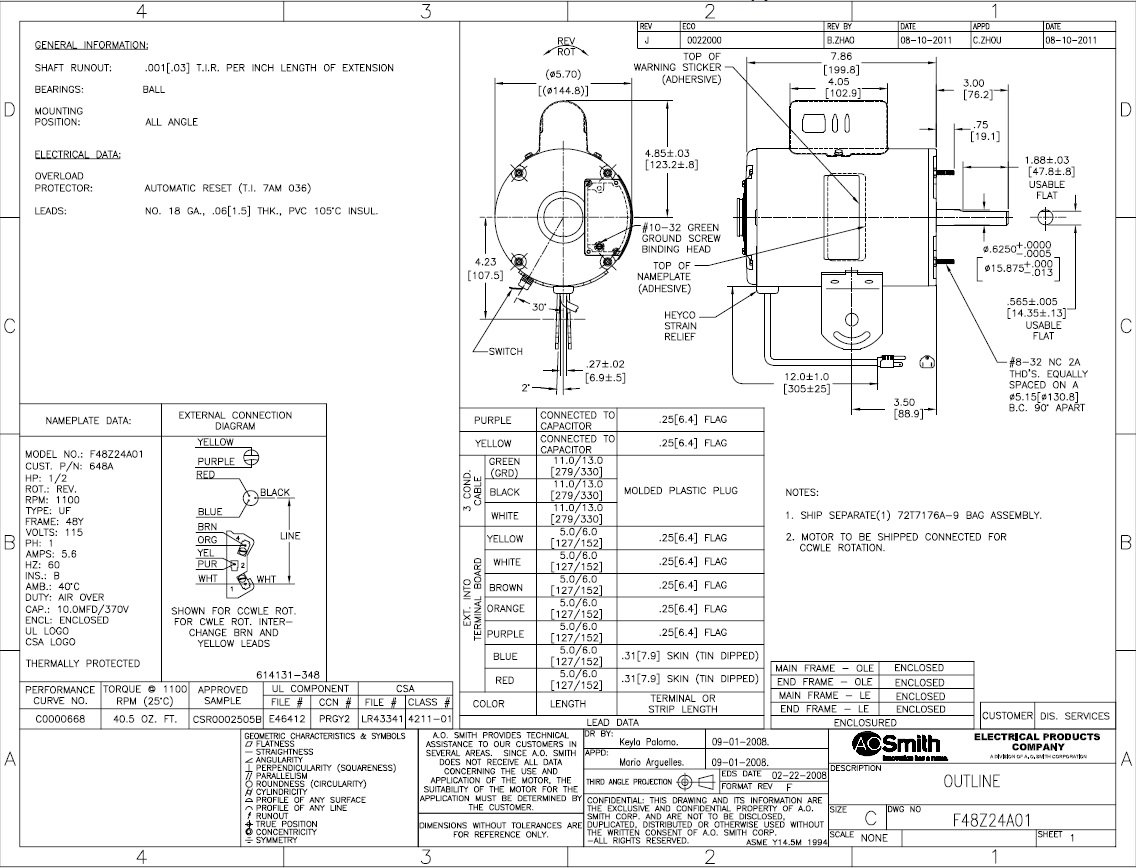 Ao Smith Wiring Diagram Ac Motor