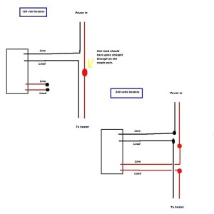 Baseboard Heater thermostat Wiring Diagram | Free Wiring