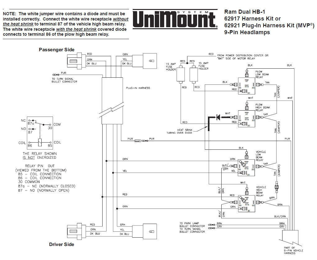 Wiring Diagram Snow Plow Lights Truck Lite Wiring Diagram Plow