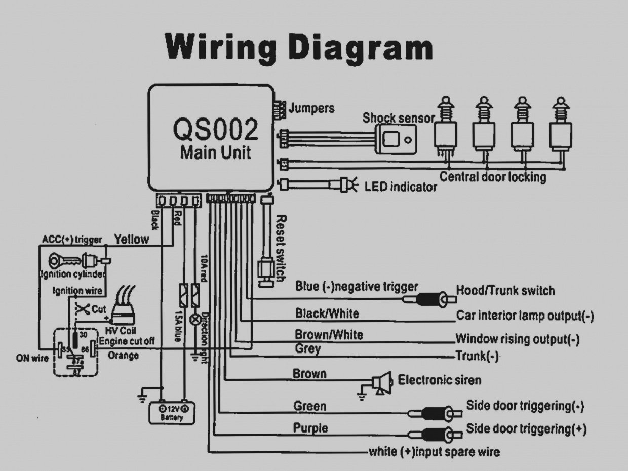 Car Alarm Wiring Diagram