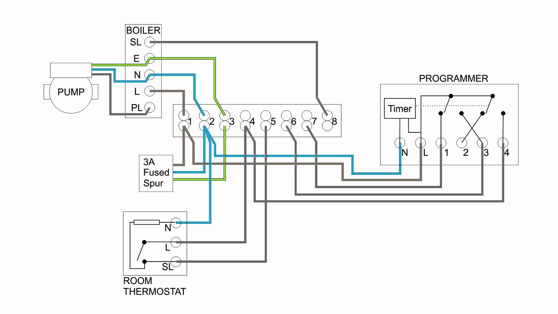 Central Heating Thermostat Wiring Diagram