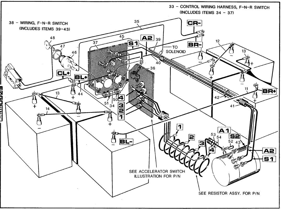 Ezgo Golf Cart Batteries Wiring Diagram
