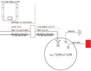 Delco 3 Wire Alternator Wiring Diagram | Free Wiring Diagram