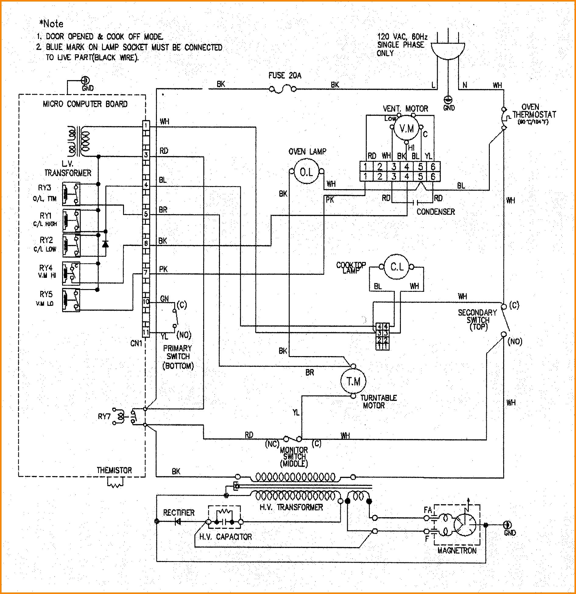 Oven Piping Diagram