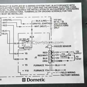 Dometic Single Zone Lcd thermostat Wiring Diagram | Free Wiring Diagram