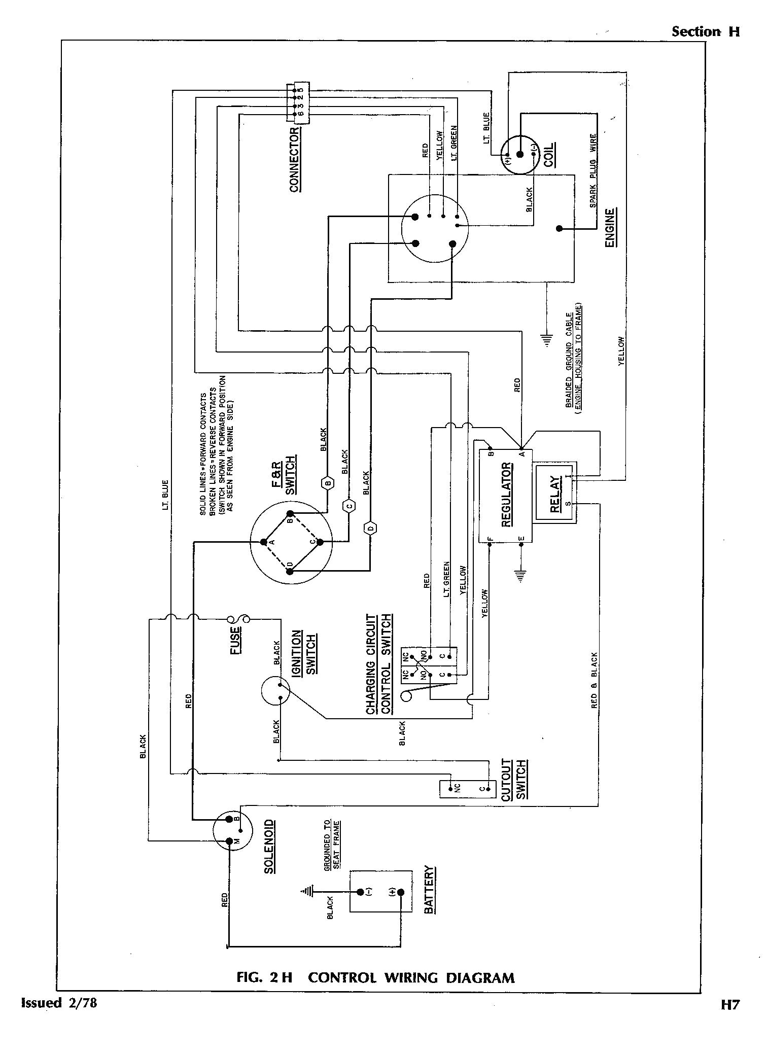 36 Volt Ez Go Golf Cart Light Wiring Diagram