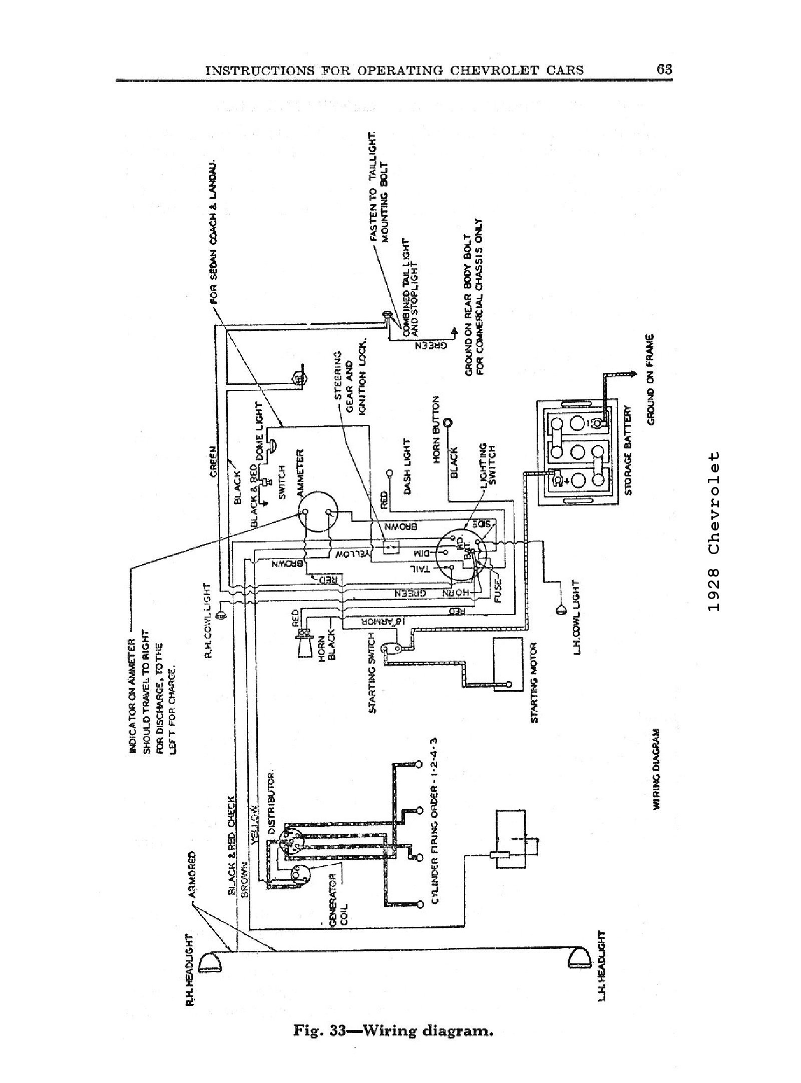Chevy Steering Column Wiring Diagram For A 39
