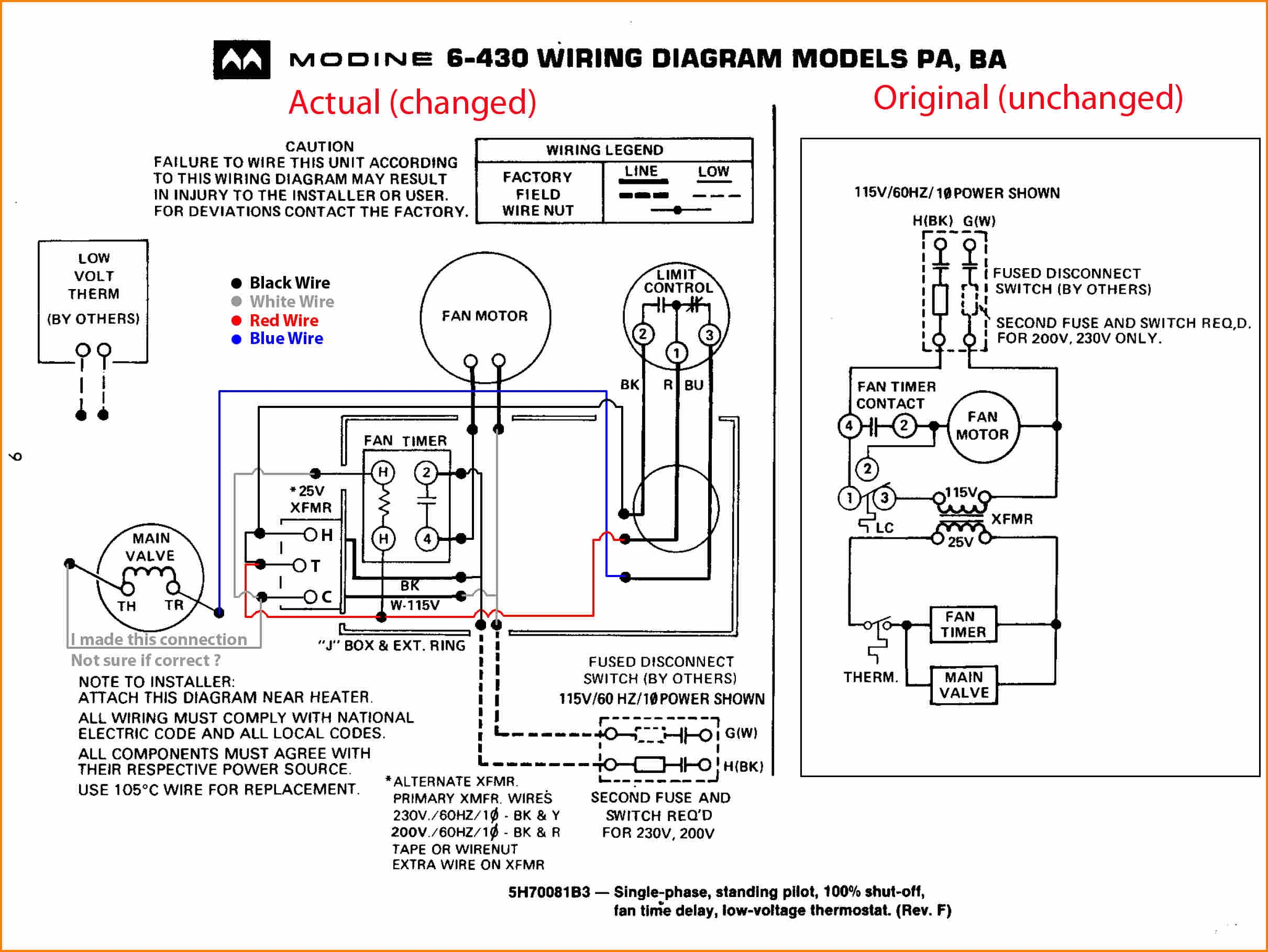 wiring diagram older furnace blower relay