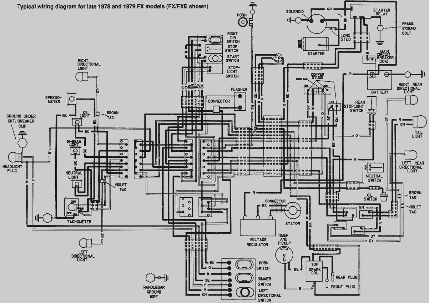 Davidson 1980 Flh Wiring Diagram Get Free Image About Wiring ... on