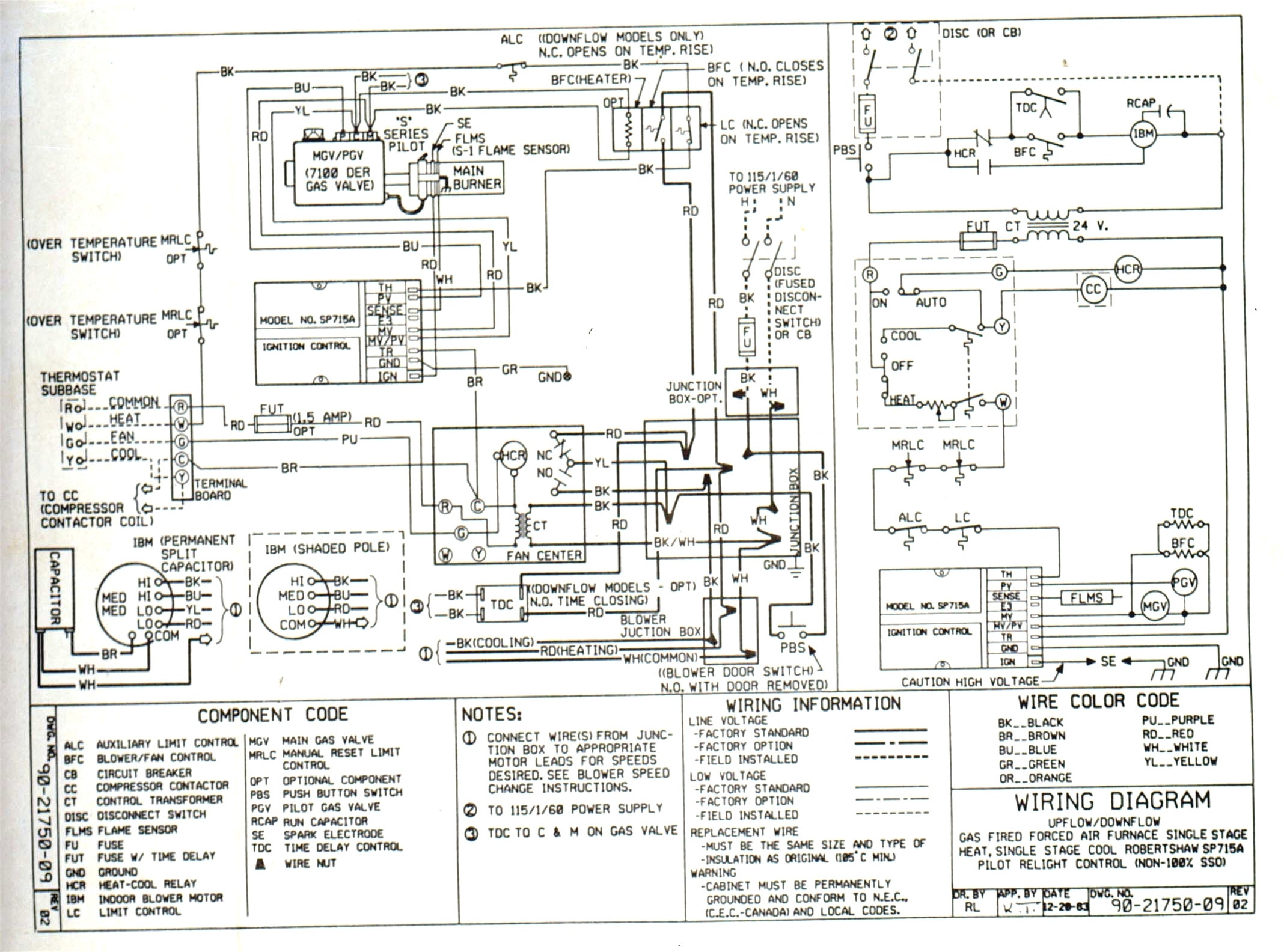 York Gas Furnace Wiring - Wiring Diagrams Digital