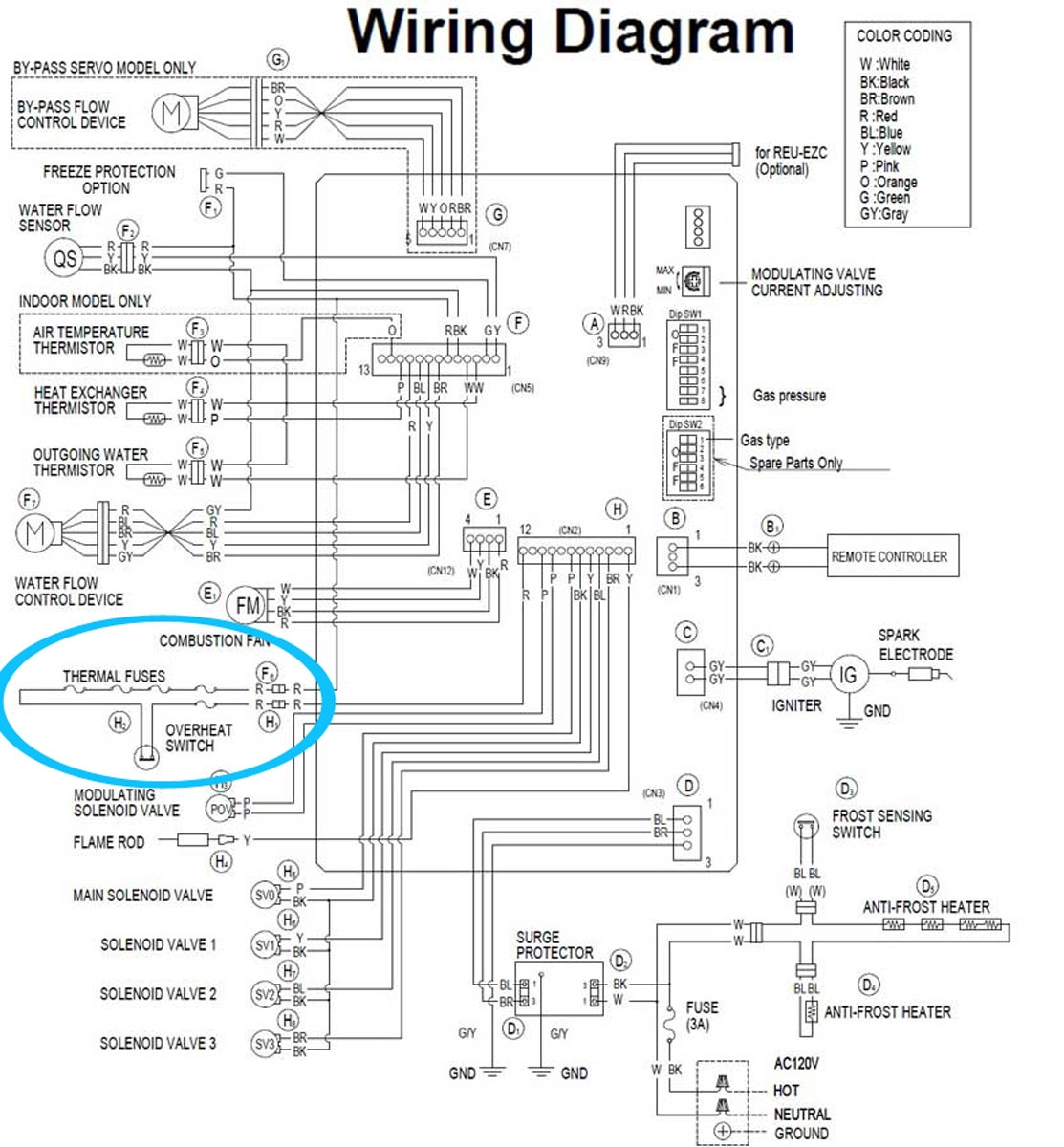 Hot Water Heating System Wiring Schematic