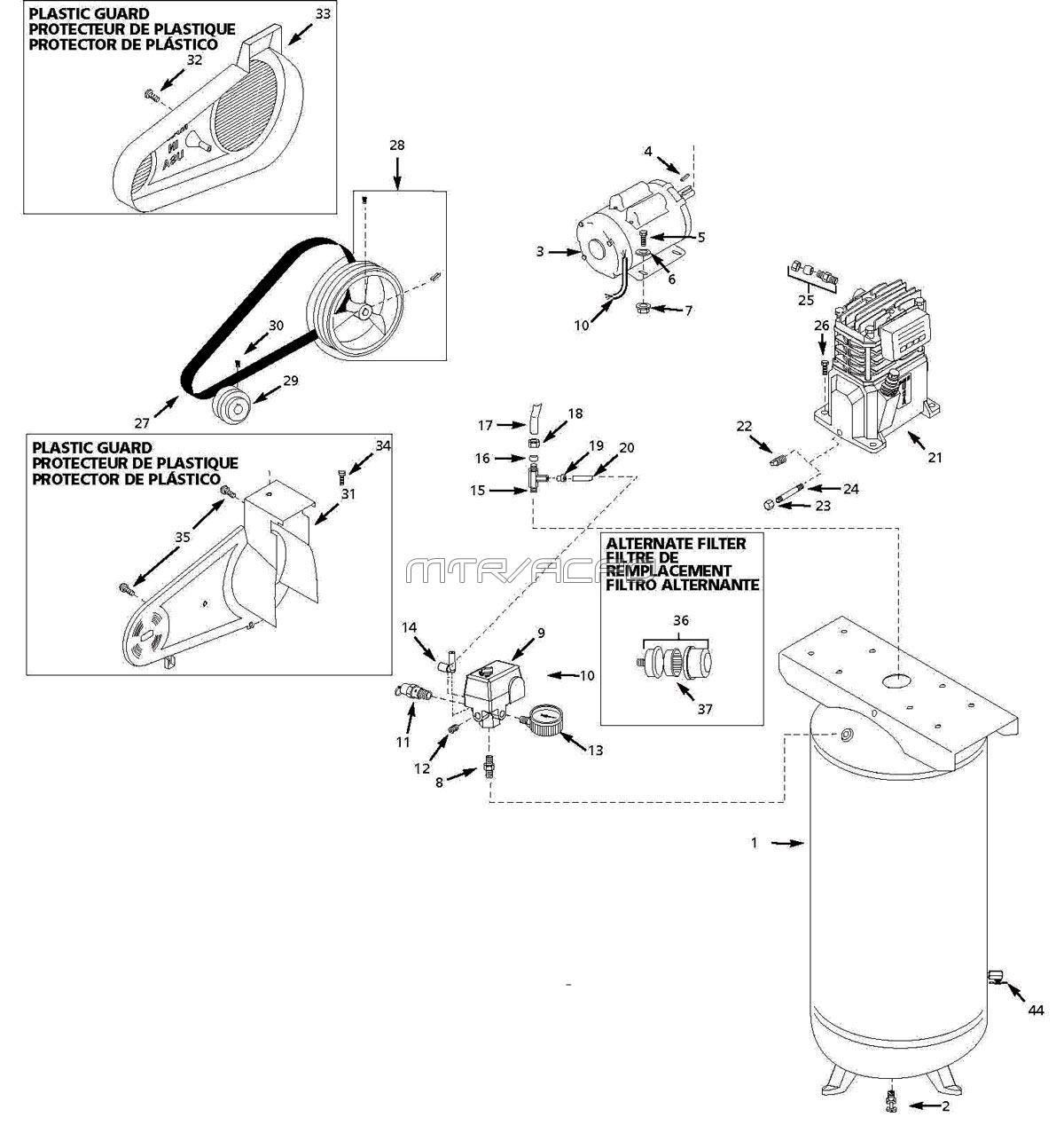 Husky Air Compressor Wiring Diagram