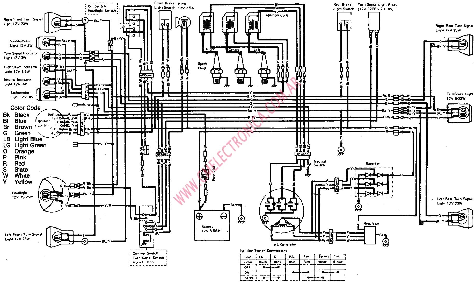 Diagram 85 Kawasaki Ninja Wiring Diagram Schematic Full