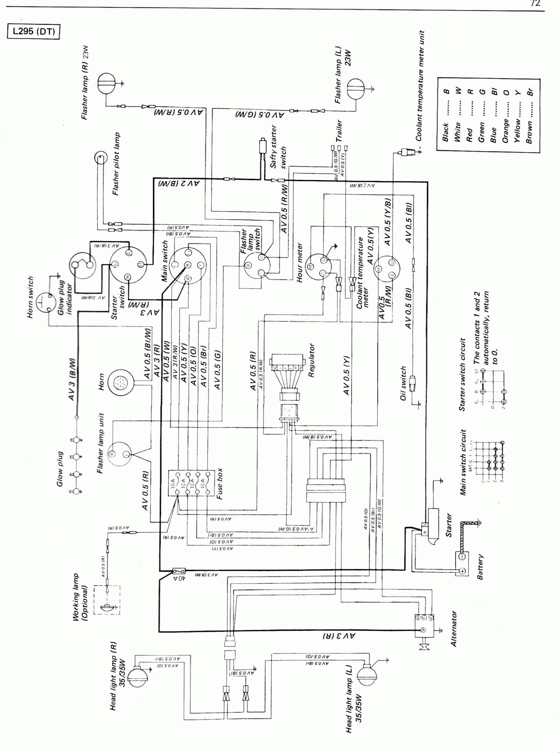 Kubota Tractor Wiring Diagram - Engine Mechanical Components on