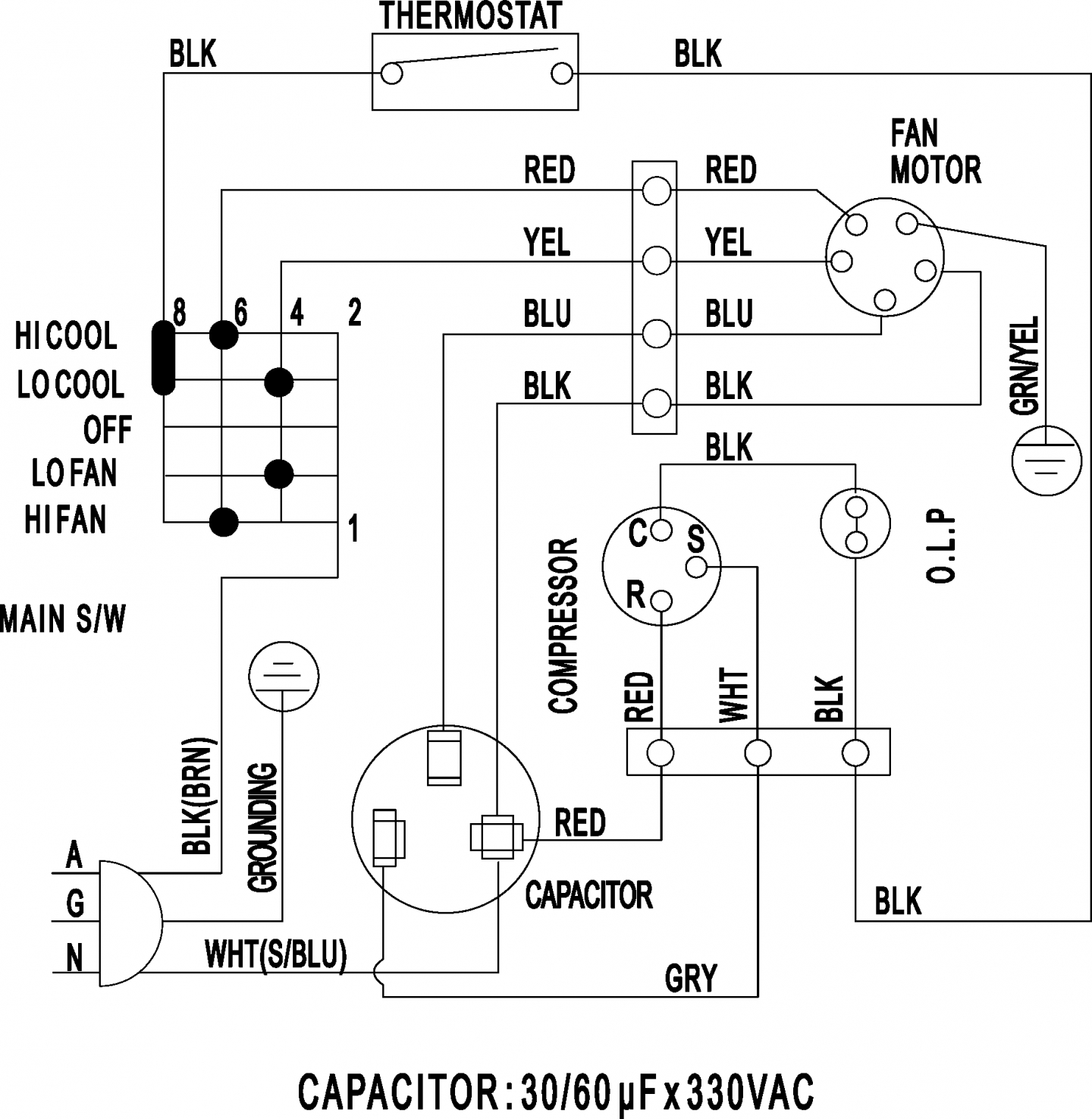 3 Wire Condenser Fan Motor Wiring Diagrams