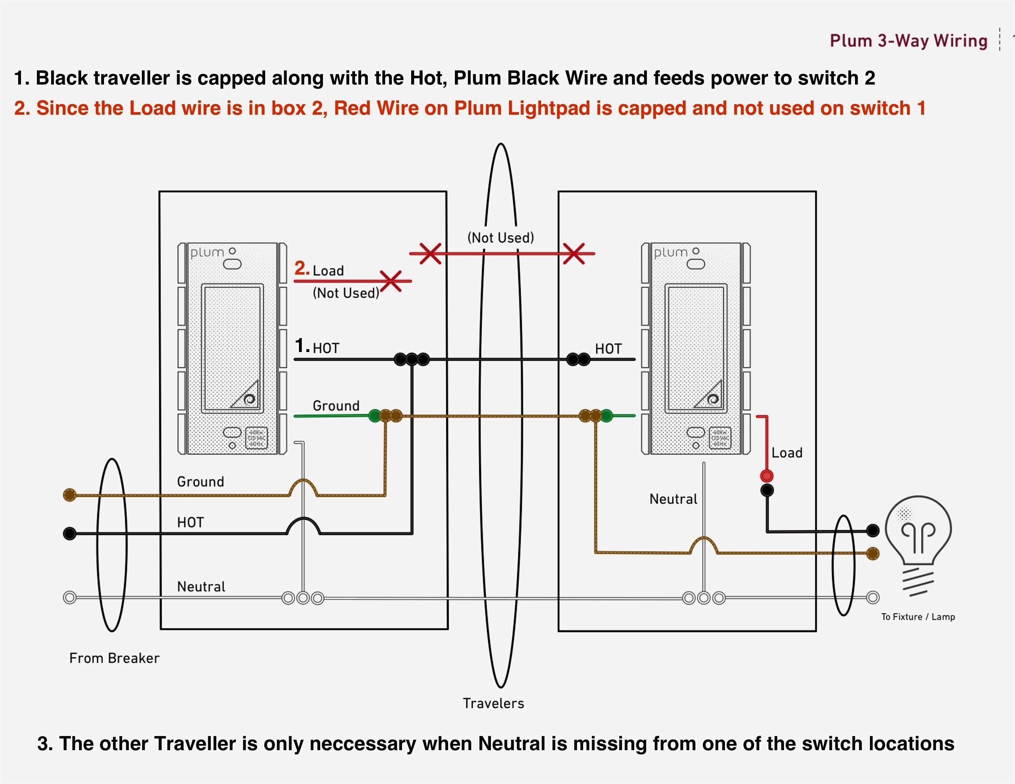 Leviton 3 Way Dimmer Switch Wiring Diagram