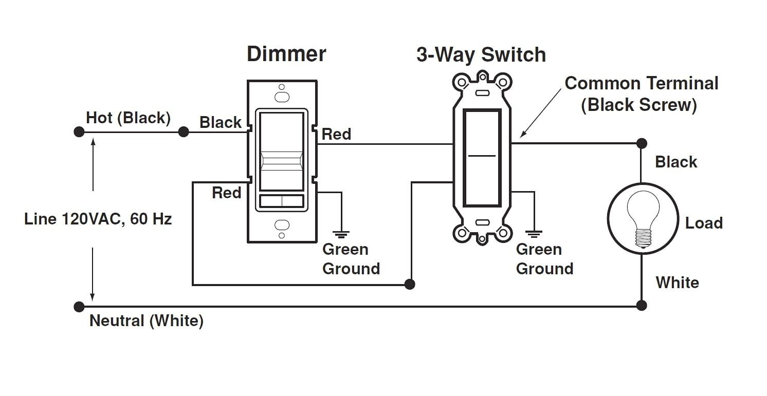 3 Way Light Switch Wiring Diagram Three