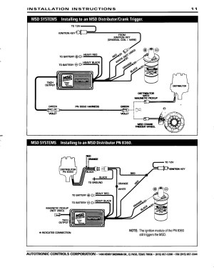 Msd 6425 Wiring Diagram | Free Wiring Diagram
