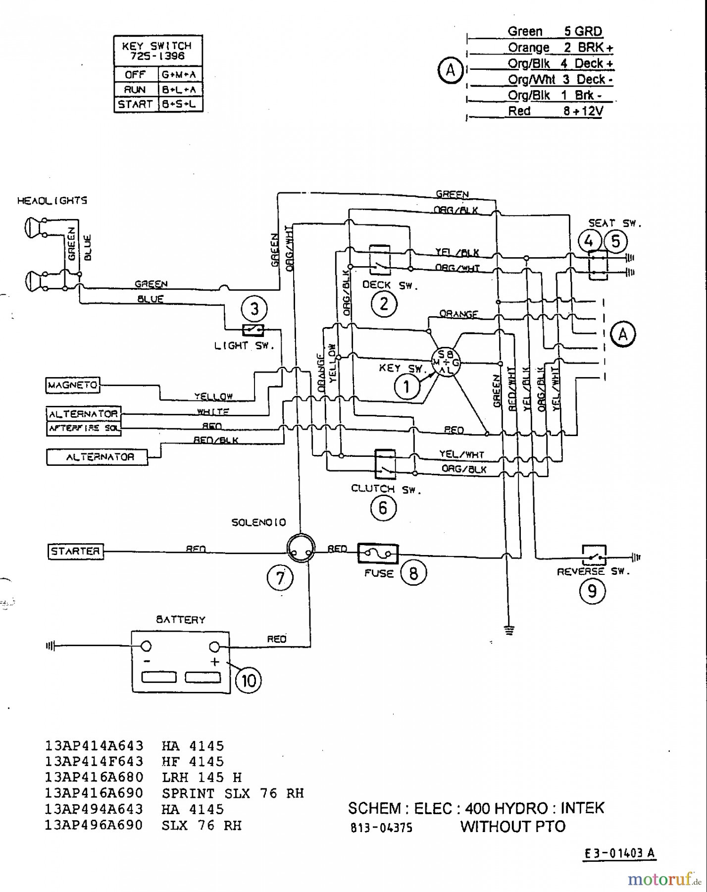wiring diagram 1477 bolens wiring diagram  bolens g11 1155 wiring diagram #15