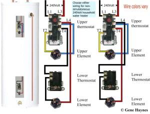 Rheem Electric Water Heater Wiring Diagram   Free Wiring