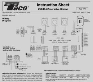 Taco 3 Wire Zone Valve Wiring Diagram | Free Wiring Diagram