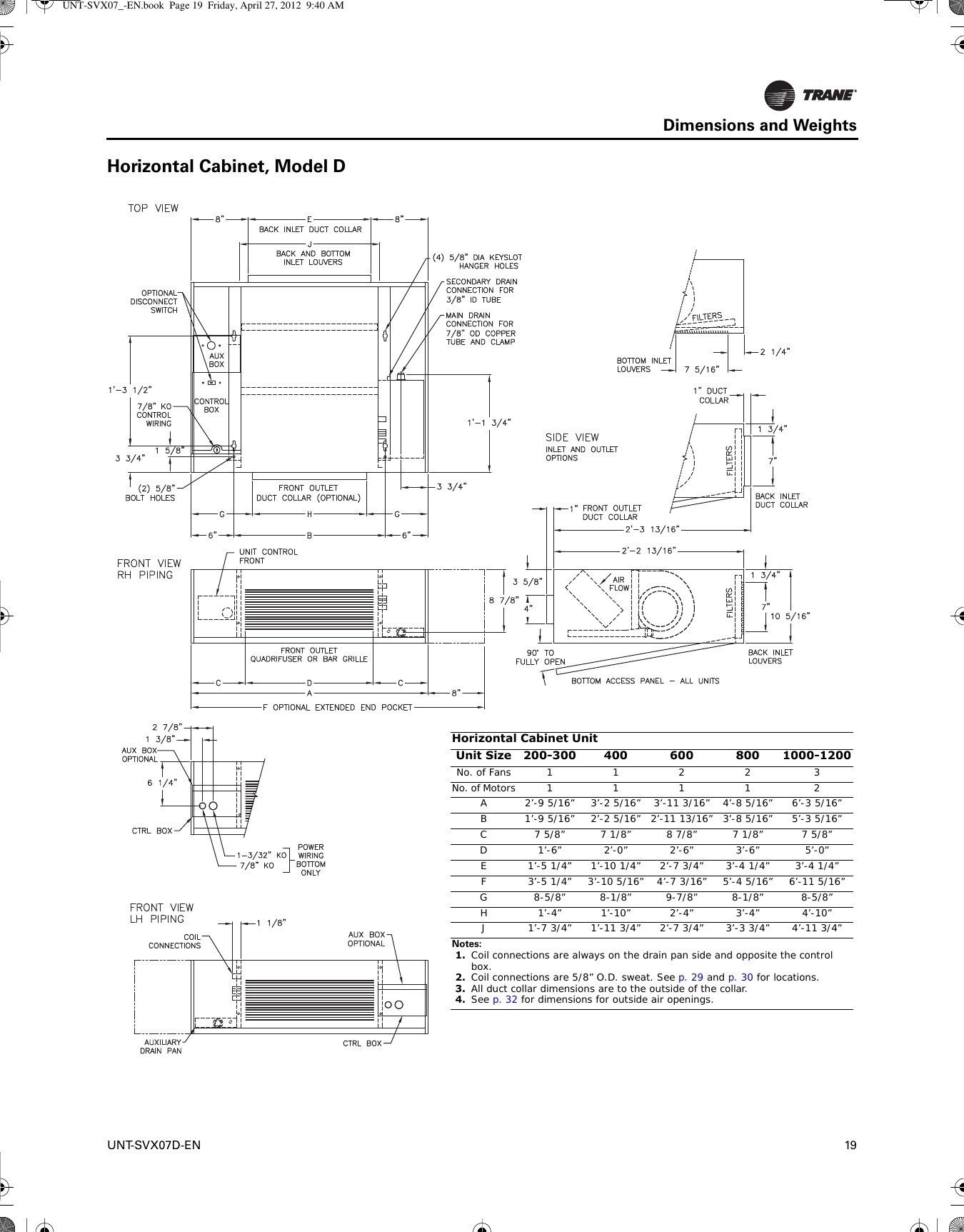 trane parts diagram