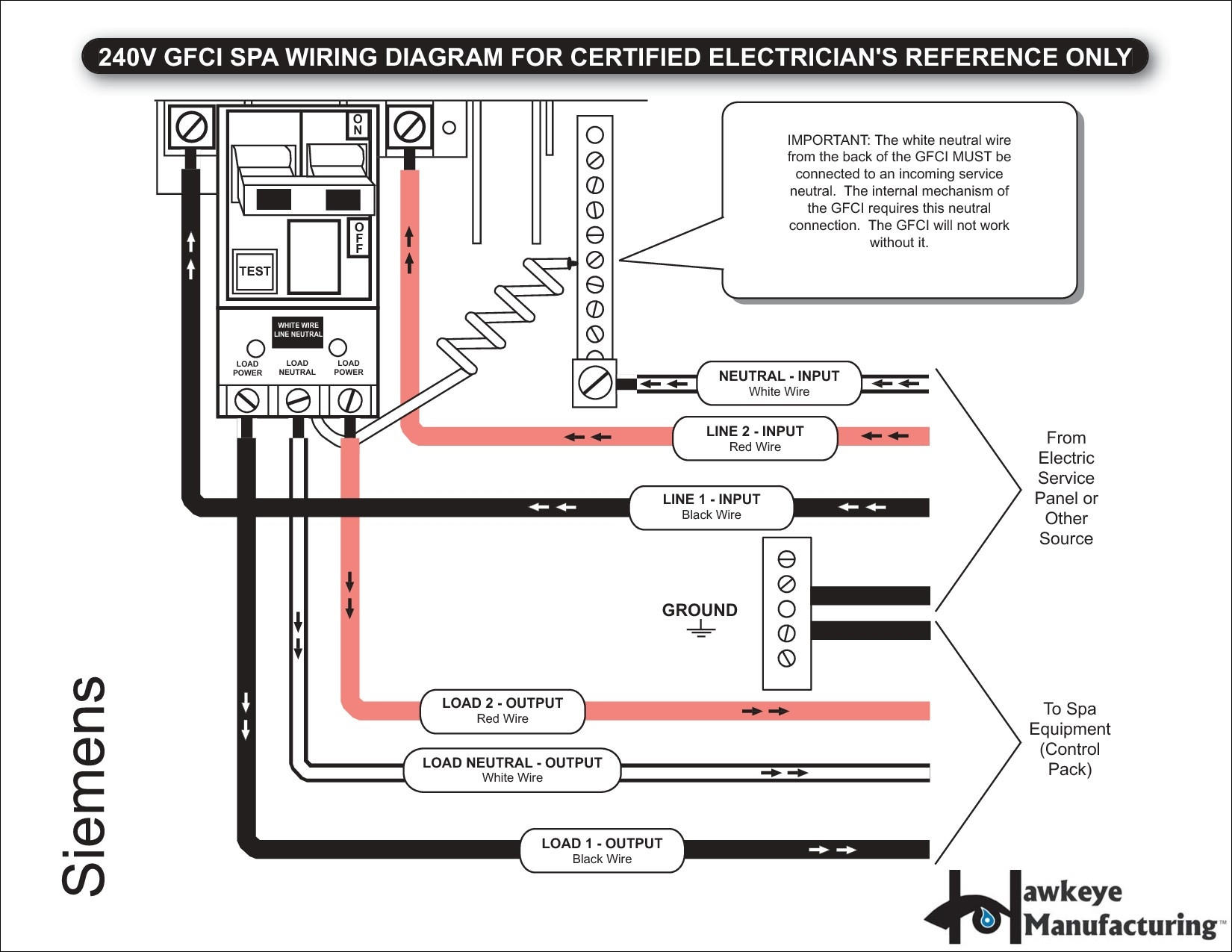 Spa Electrical Diagram