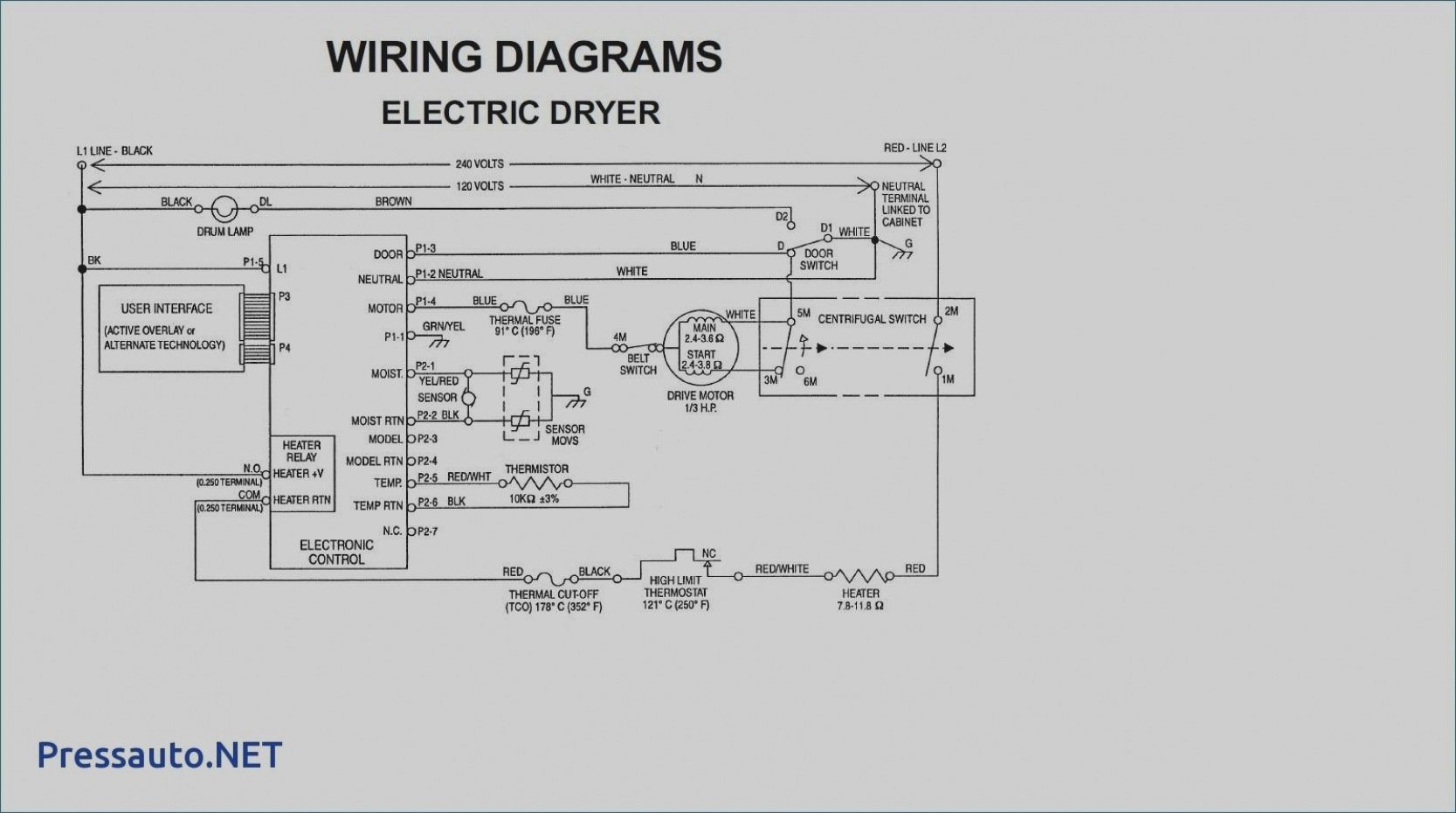 Wire Diagram For Whirlpool Dryer