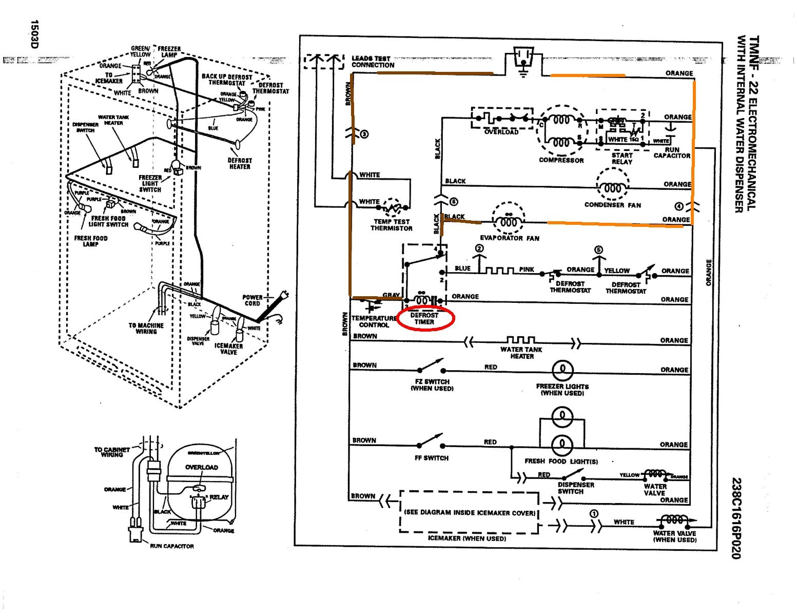 Ge Refrigerator Schematic - Home Wiring Diagrams on