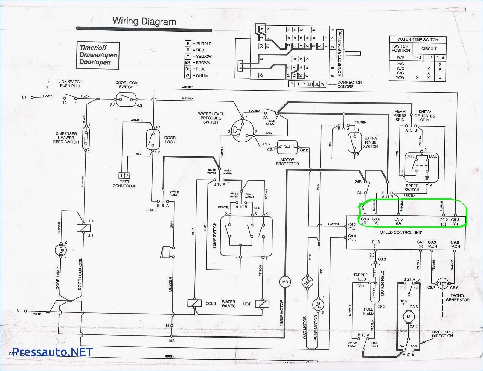 Wiring Diagram Washing Machine Lg