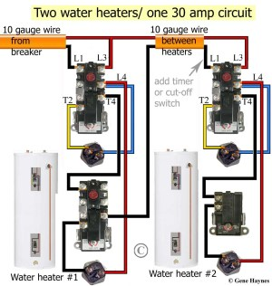 Wiring Diagram for Hot Water Heater thermostat | Free