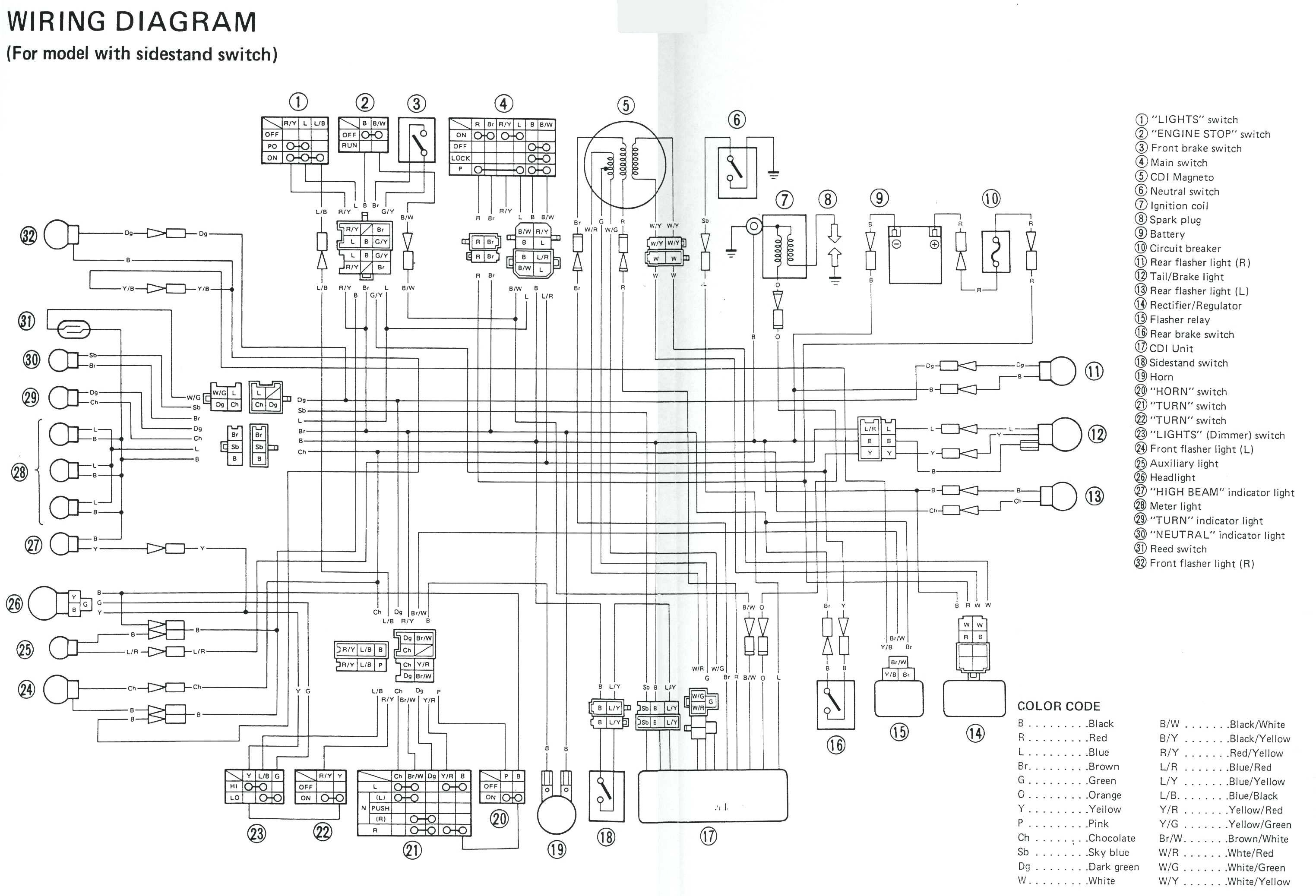 yamaha 650 wiring diagram
