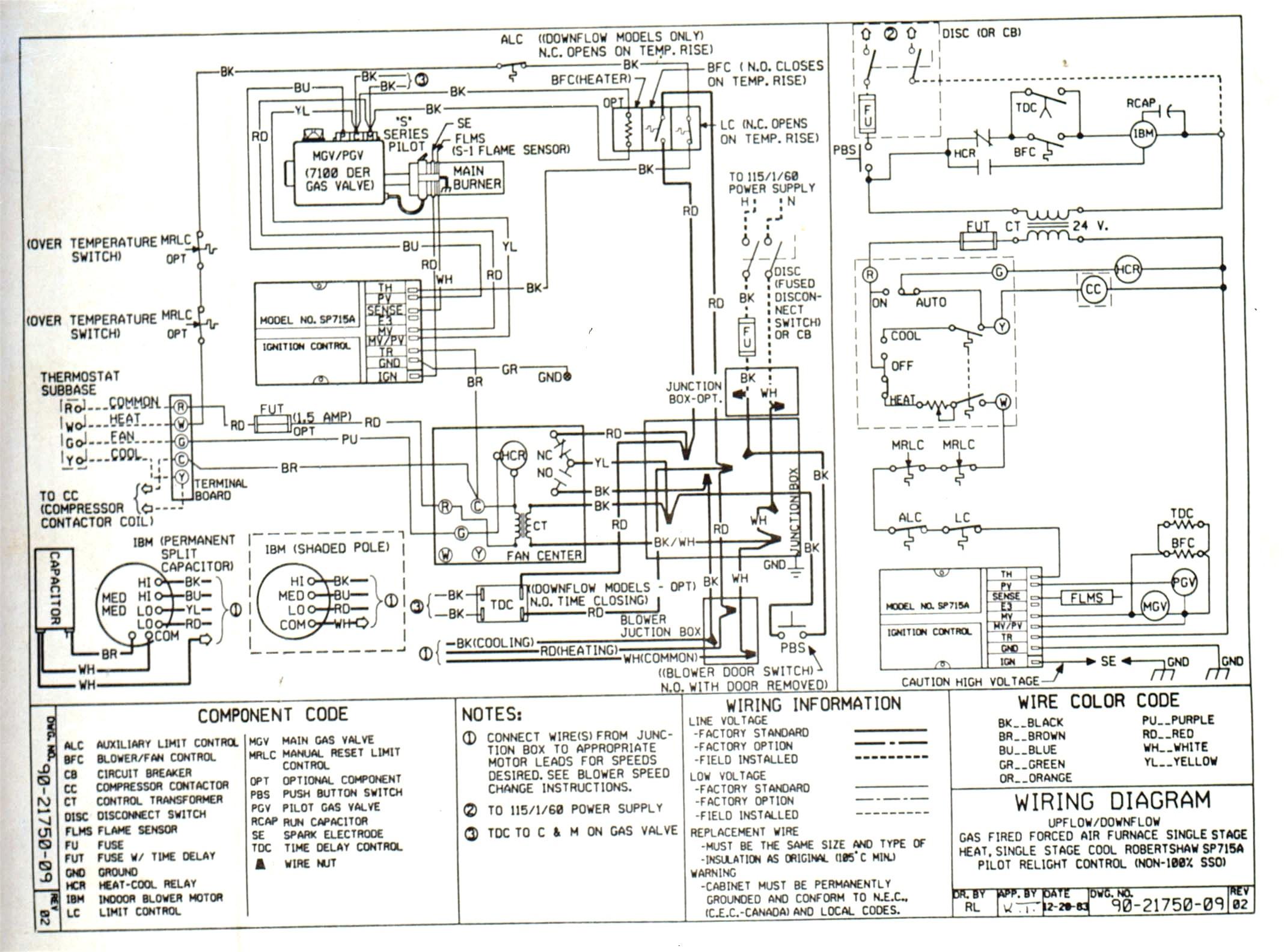 York Heat Pump Thermostat Wiring Diagram