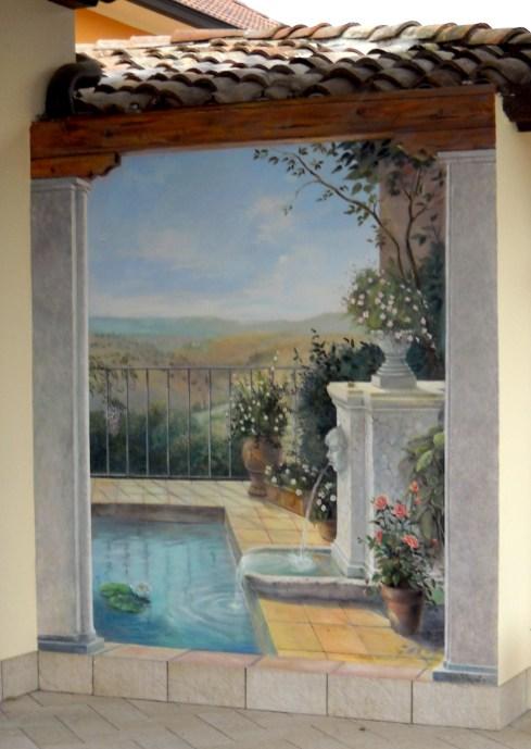 fontana a casa di Pinuccia - Pizzighettone - circa 1,5x2 m