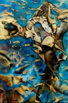 cambio - 30x45 -mixed media on canvas - 2014