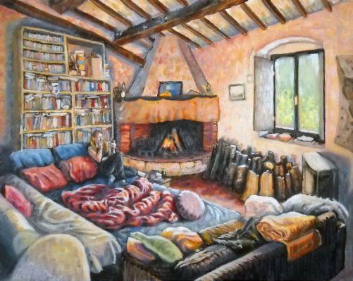 il camino di sosselva - 50x40 -oil on canvas - 2013
