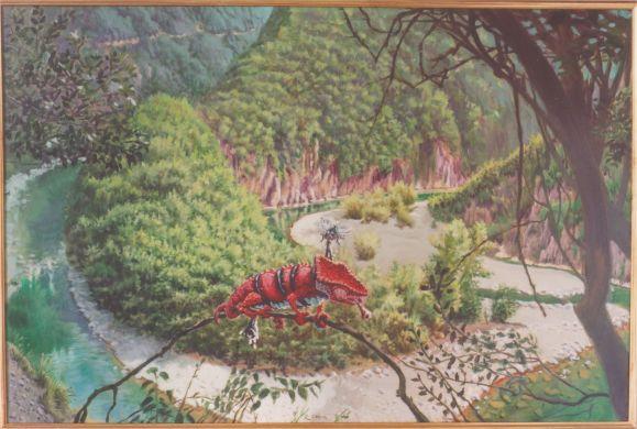 la rivoluzione della mosca - 100x70 - oil on canvas - 2001