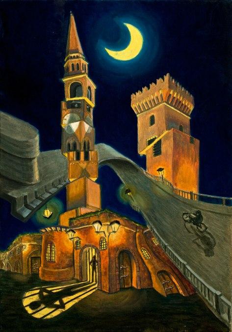 l'ambizione tagliata - 35x50 -oil on canvas - 2012