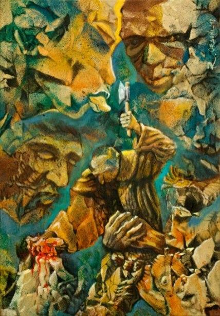 turbe - 35x50 -mixed media on canvas - 2013
