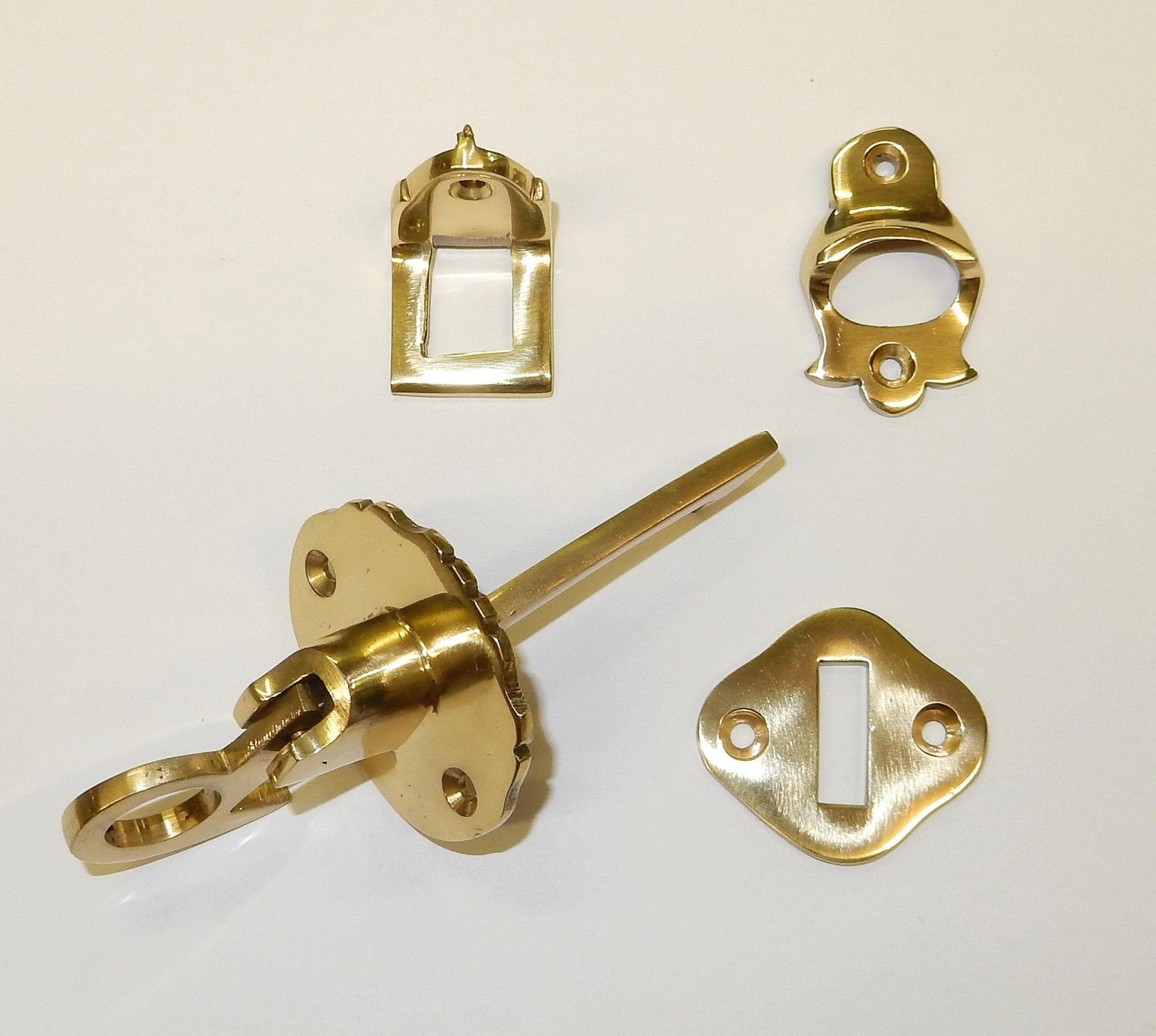 Brass Through Shutter Latch